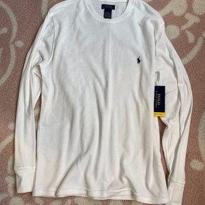 Men's White Long Sleeve - Size L